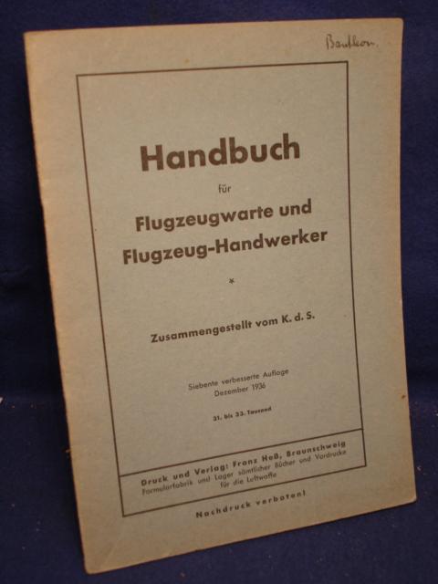 Handbuch für Flugzeugwarte und Flugzeug-Handwerker