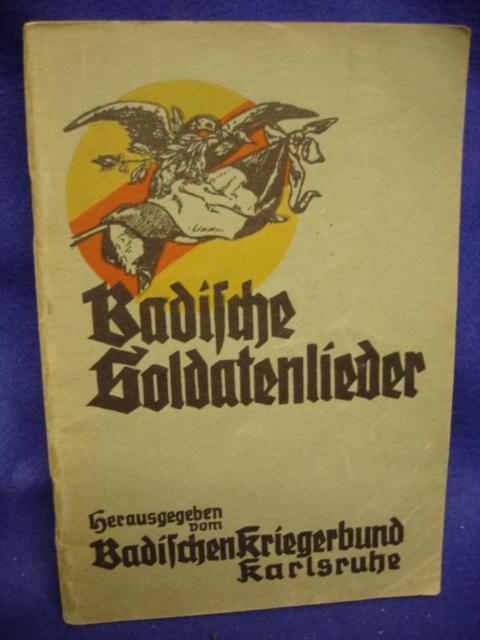 Badische Soldatenlieder. Kriegerbund Karlsruhe.
