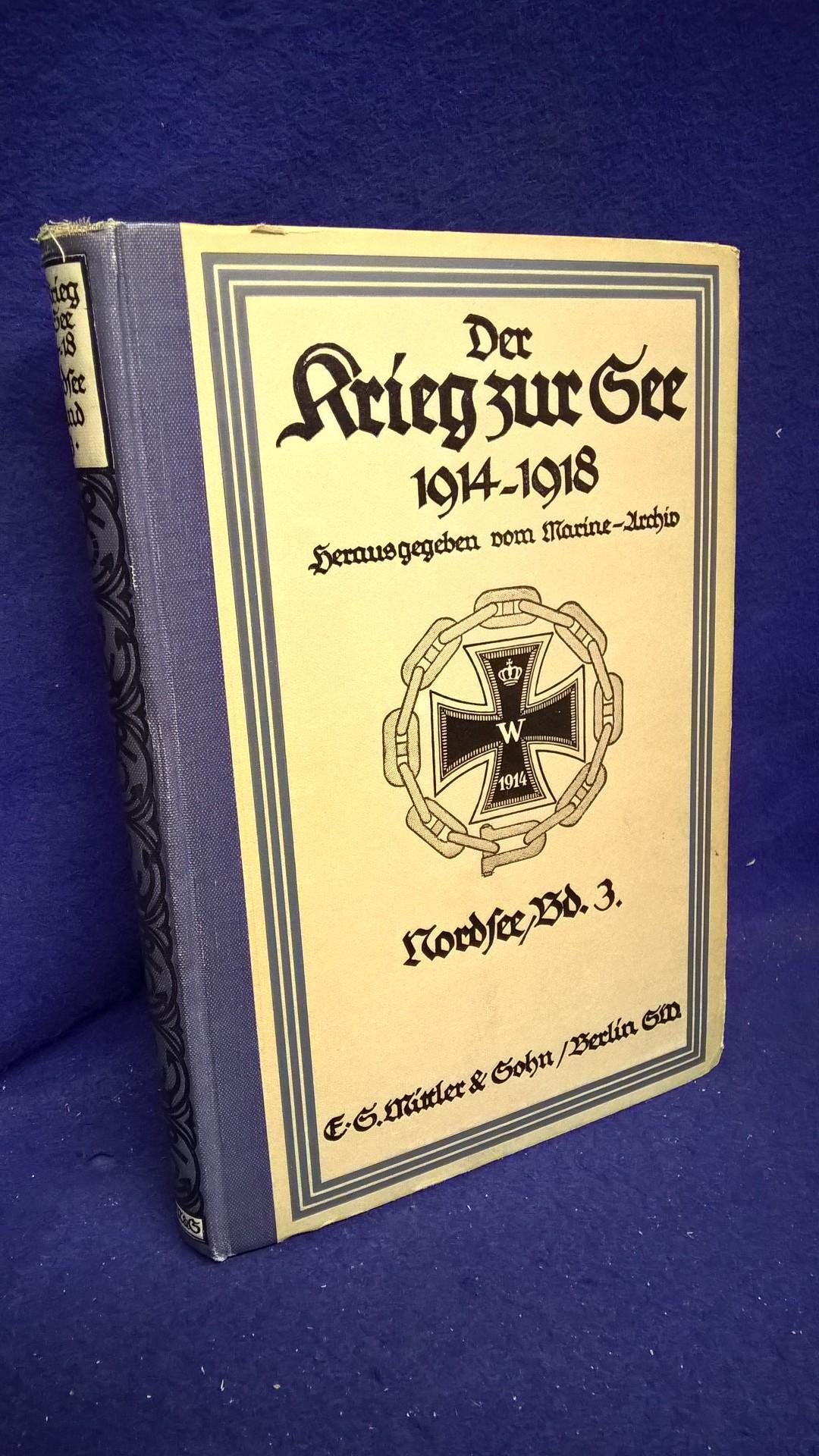 Der Krieg zur See 1914-1918. Nordsee, Band 3: Von Ende November 1914 bis Anfang Februar 1915.