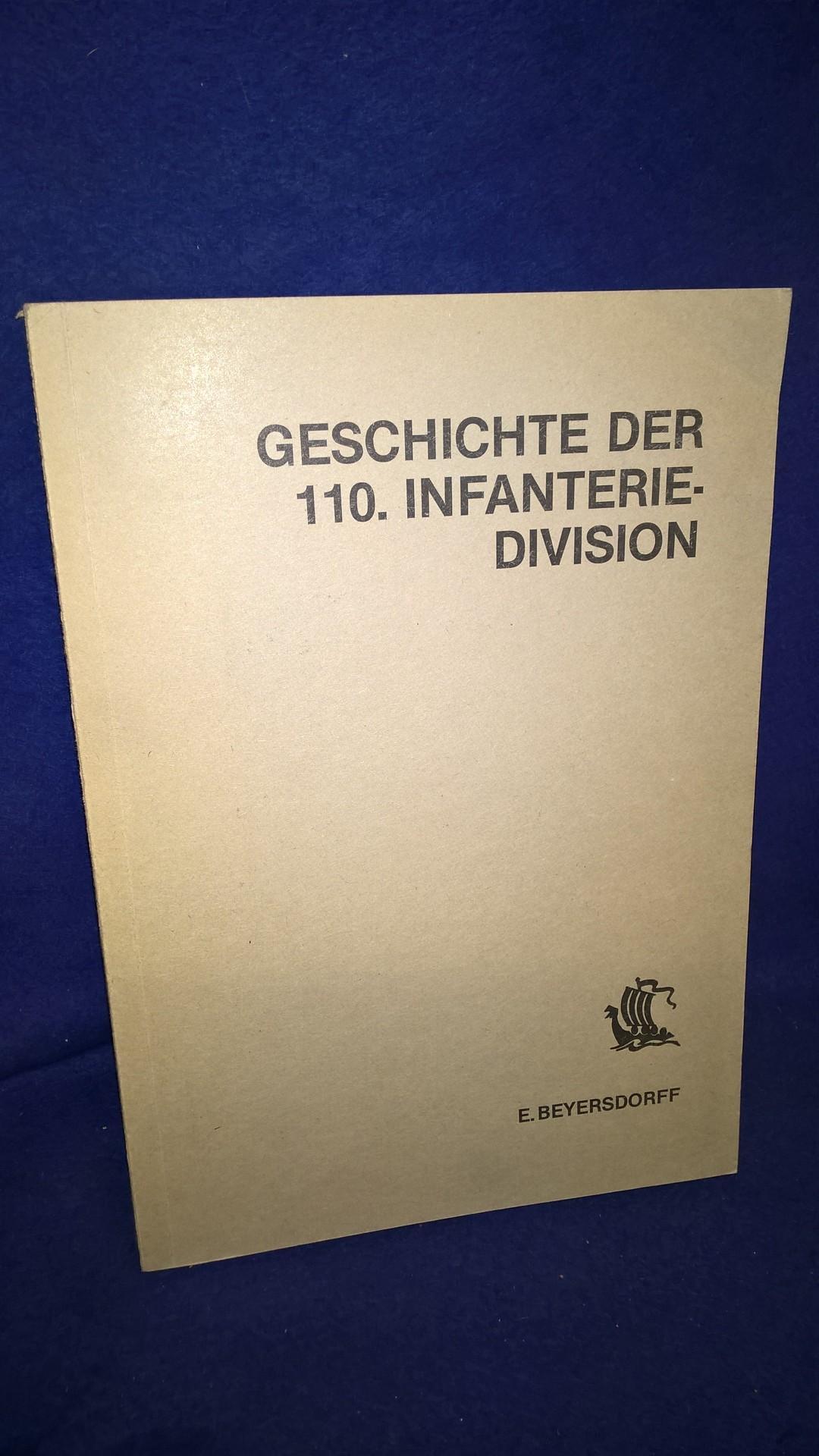 Geschichte der 110. Infanterie-Division.