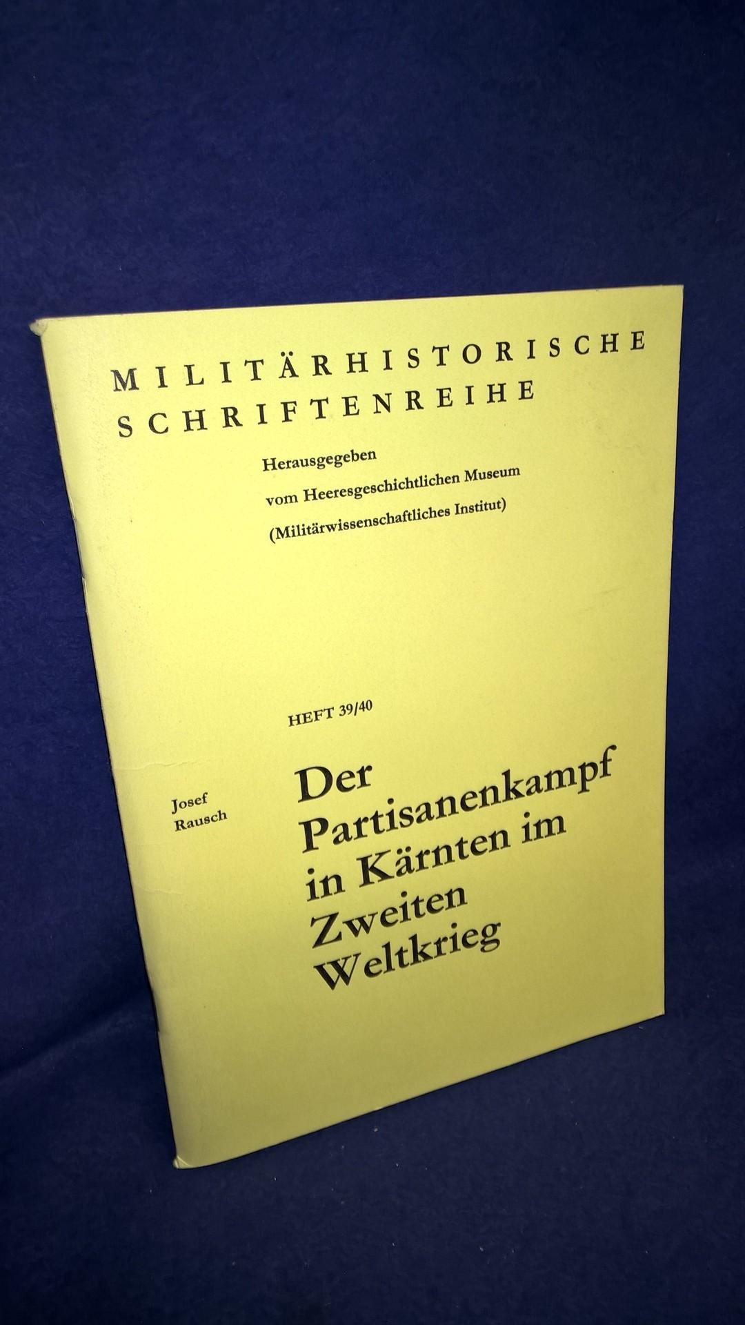 Der Partisanenkampf in Kärnten im Zweiten Weltkrieg