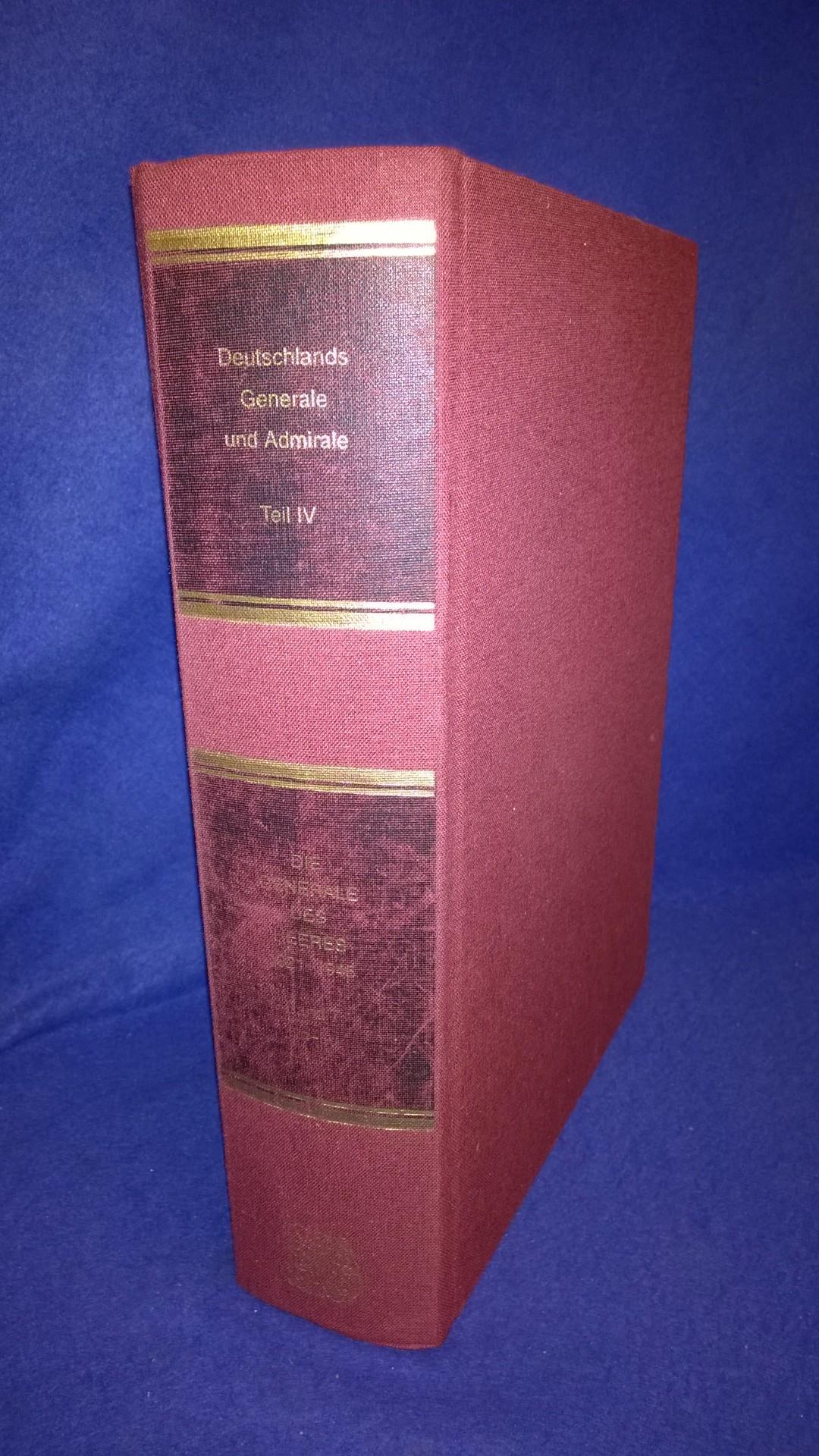 Deutschlands Generale und Admirale, Teil IV: Die Generale des Heeres 1921-1945. Band 7: Kn-Lu.