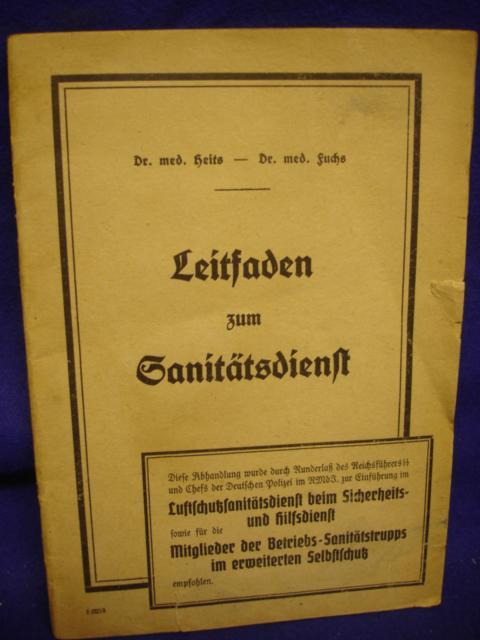 Leitfaden zum Sanitätsdienst. Oktober 1941.