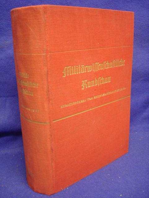 Militärwissenschaftliche Rundschau. Kompletter Jahrgang 1937 in den Heften 1-6.