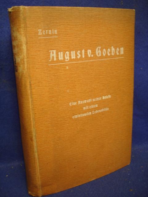 August von Goeben in seinen Briefen.