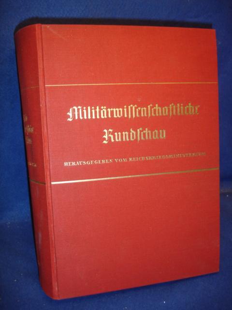 Militärwissenschaftliche Rundschau. Kompletter Jahrgang 1936 in den Heften 1-6.