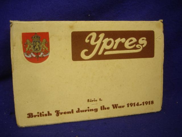 Ypres! British Front during the War 1914-1918. Englische Postkartenserie mit insgesamt 10 ungelauffene Postkarten. Diese zeigen Stellungen,Stellungs/Frontbereiche der Gebiete von: Langemark/Poelcapelle/Zonnebeke/Moorslede/Passchendale/Gheluvelt/Zillebeke-