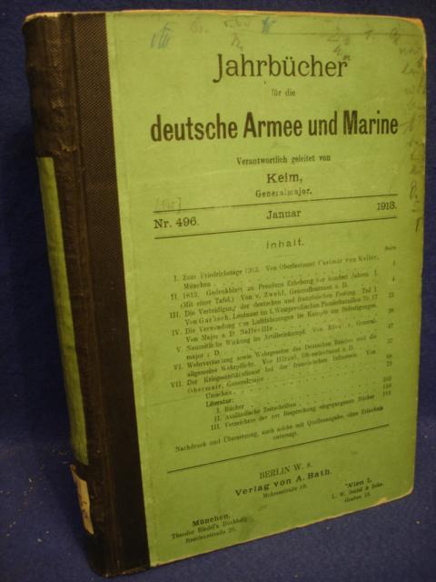 Jahrbücher über die deutsche Armee und Marine. Jahrgang 1913. Januar  bis Juni.