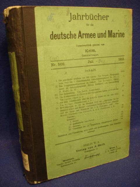 Jahrbücher für die deutsche Armee und Marine. Jahrgang 1913. Juli bis Dezember..