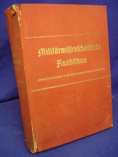 Militärwissenschaftliche Rundschau 3. Jahrgang 1938. Kompletter Jahresband mit allen Heften.