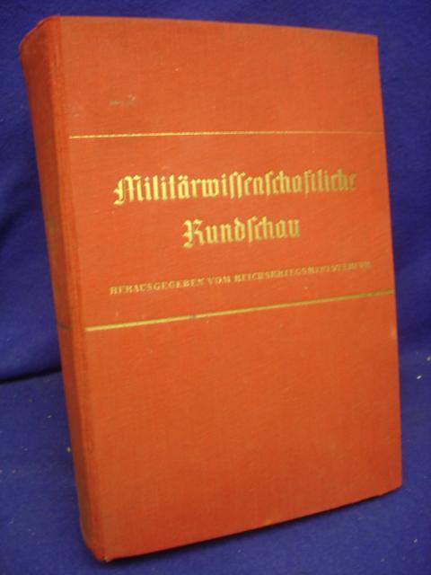 Militärwissenschaftliche Rundschau 2. Jahrgang 1937. Kompletter Jahresband mit allen Heften.