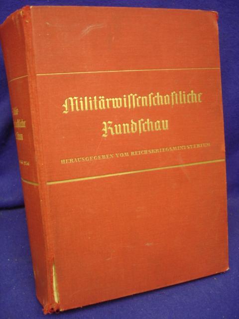 Militärwissenschaftliche Rundschau 1. Jahrgang 1936. Kompletter Jahresband mit allen Heften.