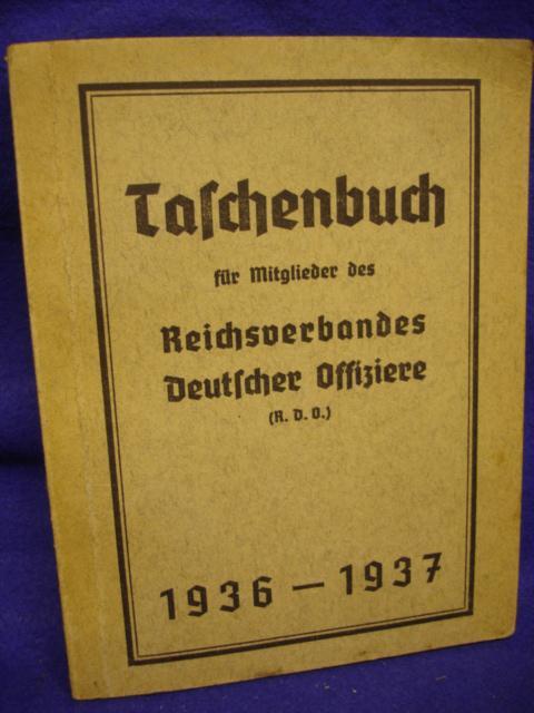 Taschenbuch für Mitglieder des Reichsverbandes Deutscher Offiziere (R.D.O.) 1936-1937