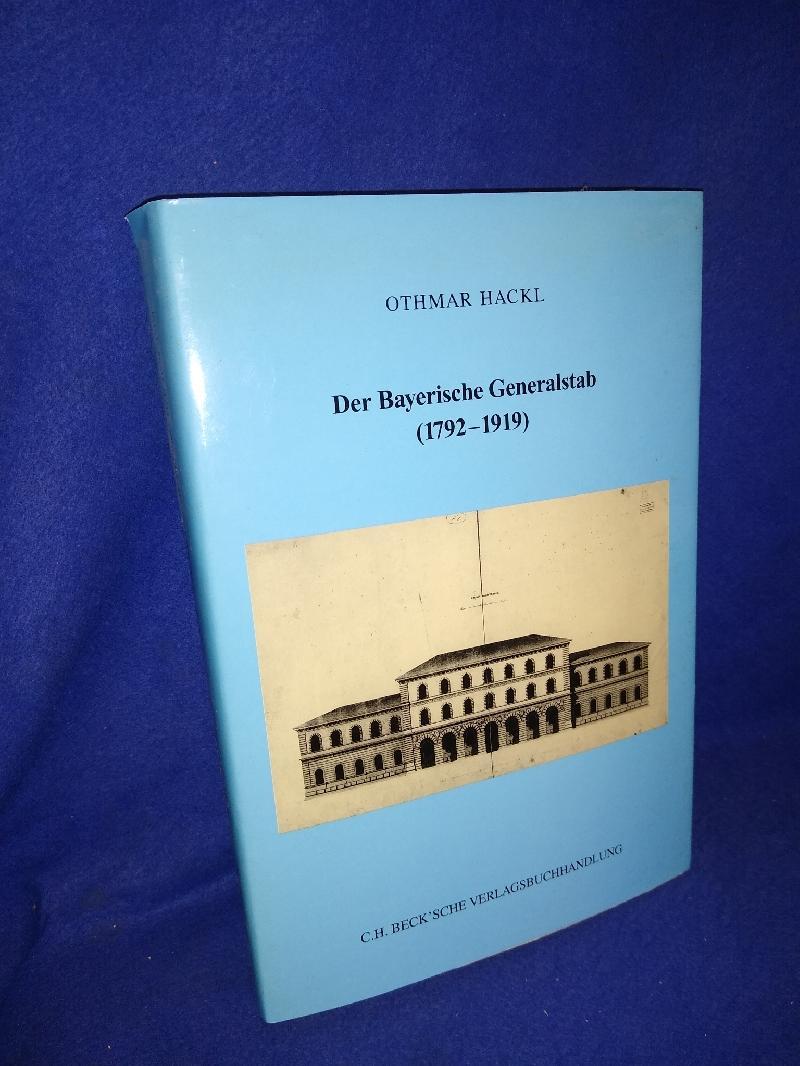 Der Bayerische Generalstab (1792-1919).