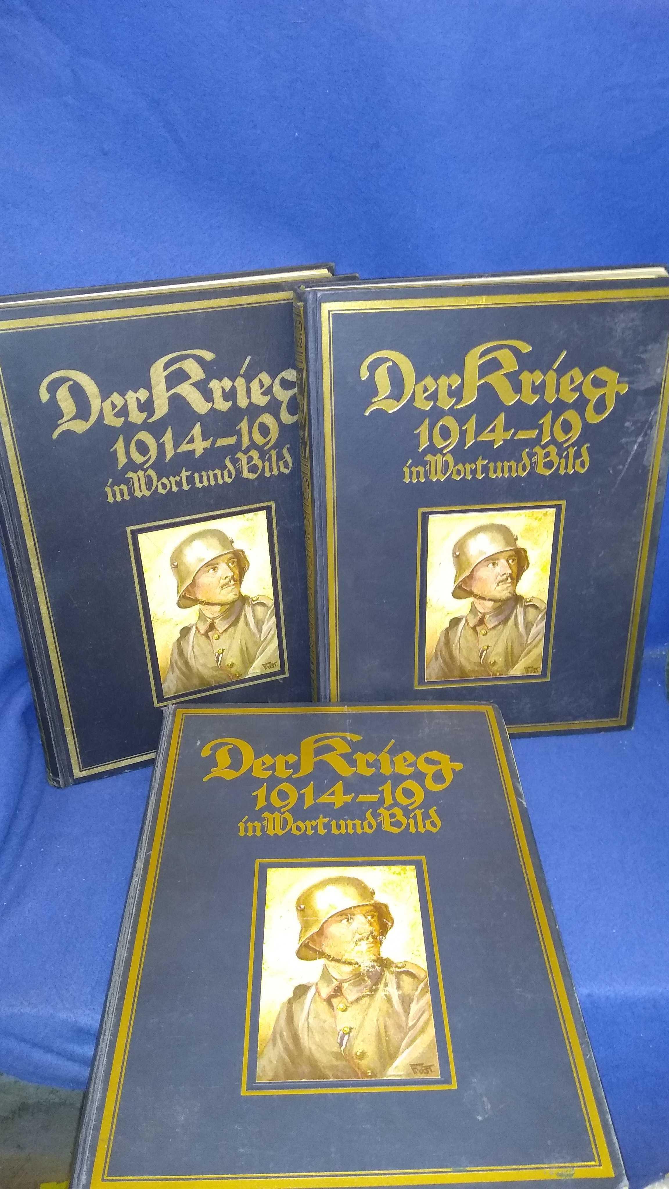 Der Krieg 1914/19 in Wort und Bild. Band 1-3,so komplett!
