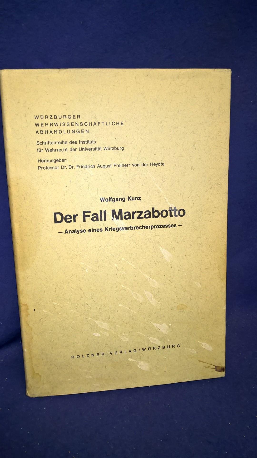 Der Fall Marzabotto - Analyse eines Kriegsverbrecherprozesses
