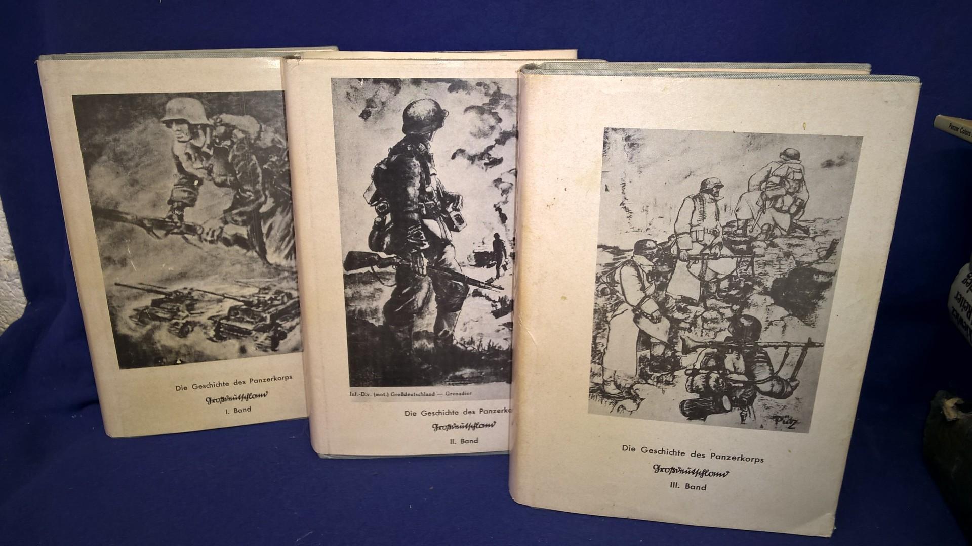 Die Geschichte des Panzerkorps Großdeutschland. Band 1 - 3 komplett!