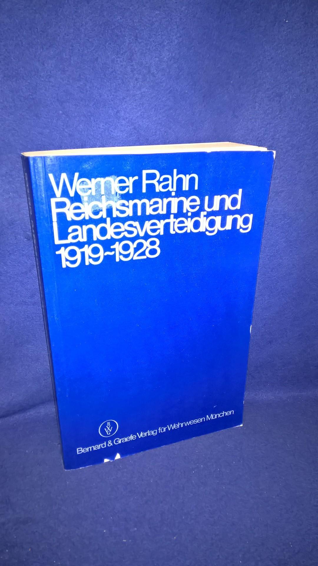 Reichsmarine und Landesverteidigung 1919-1928. Konzeption und Führung der Marine in der Weimarer Republik.
