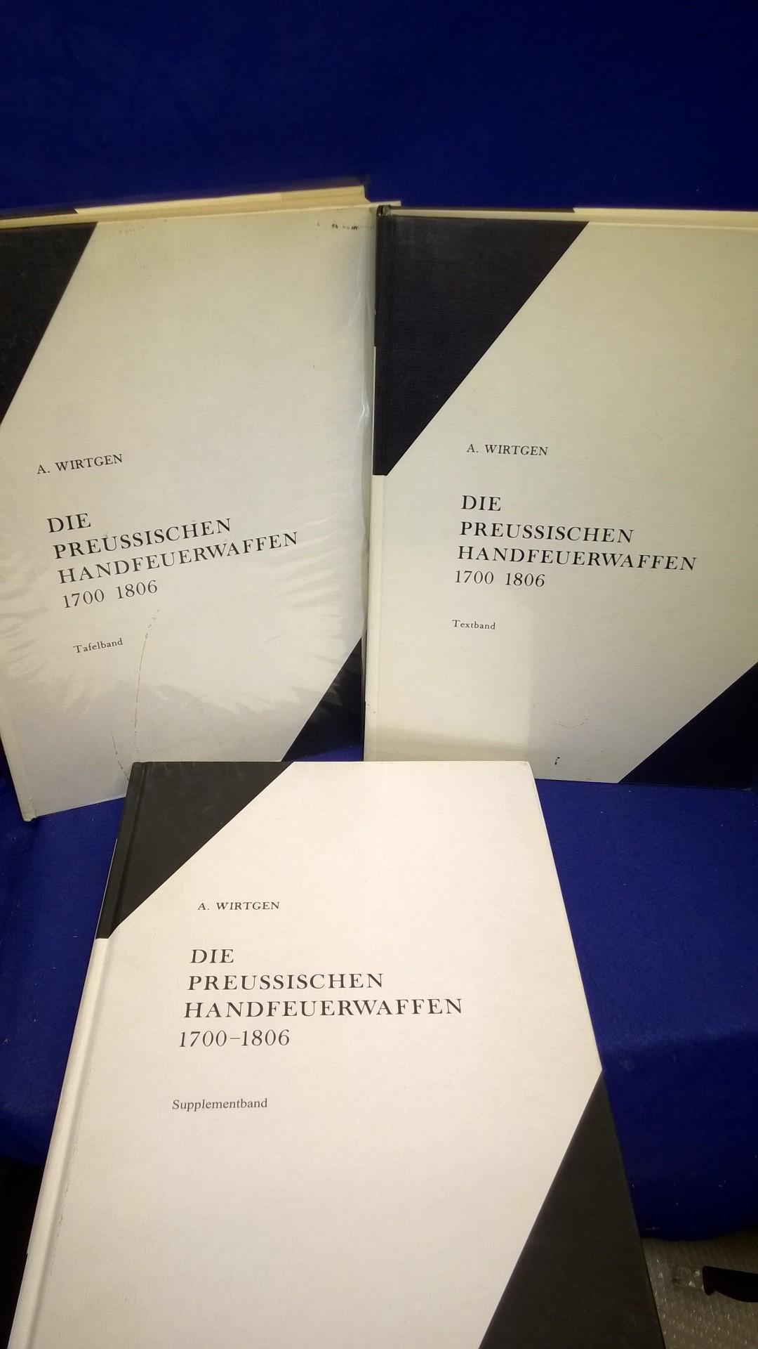 Die Preussischen Handfeuerwaffen 1700-1806. Modelle und Manufakturen - Textband & Tafelband sowie der seltene Supplementband. So komplett!