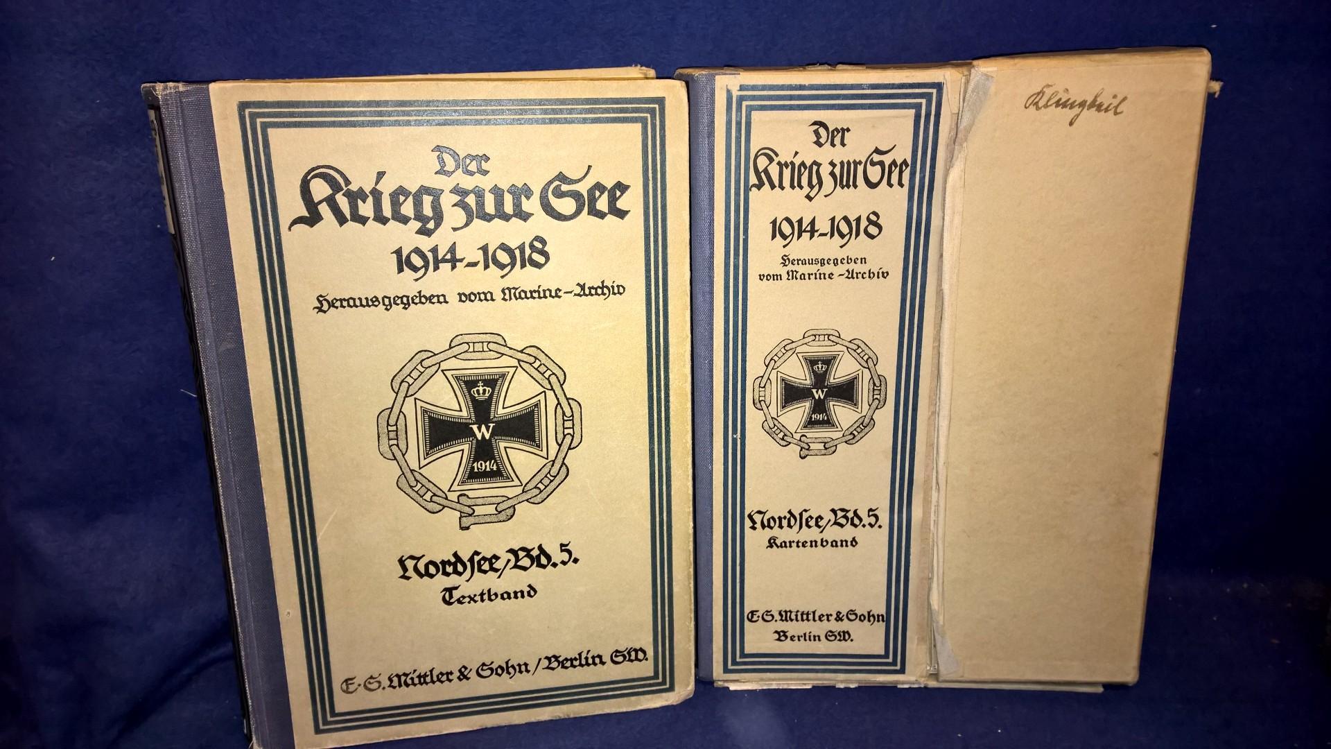 Der Krieg zur See 1914 - 1918.Nordsee,Band 5:von Januar bis Juni 1916. Text- und Kartenband,komplett mit allen Karten!