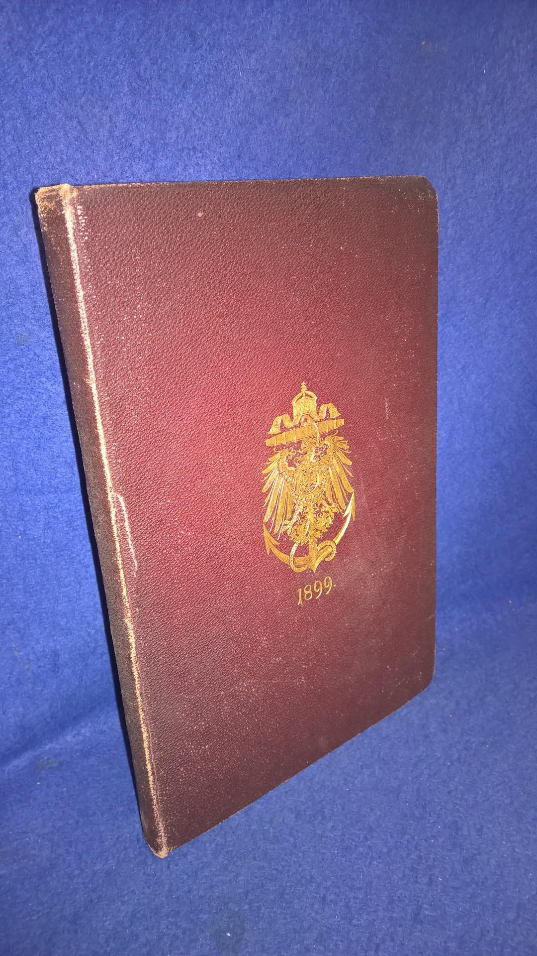Rangliste der Kaiserlich Deutschen Marine für das Jahr 1899.