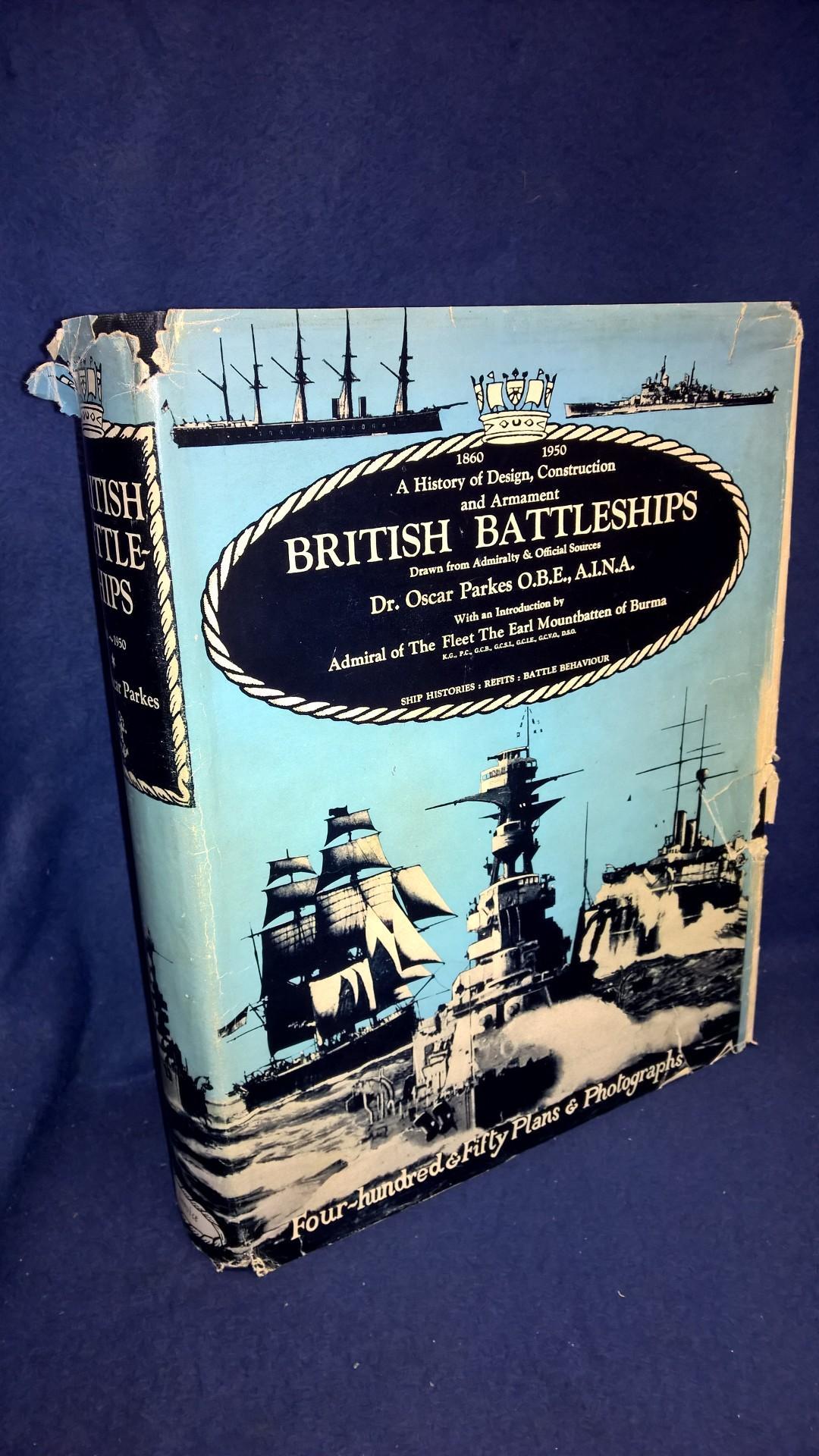 British Battleships 1860-1950. A History of Design, Construction and Armament.